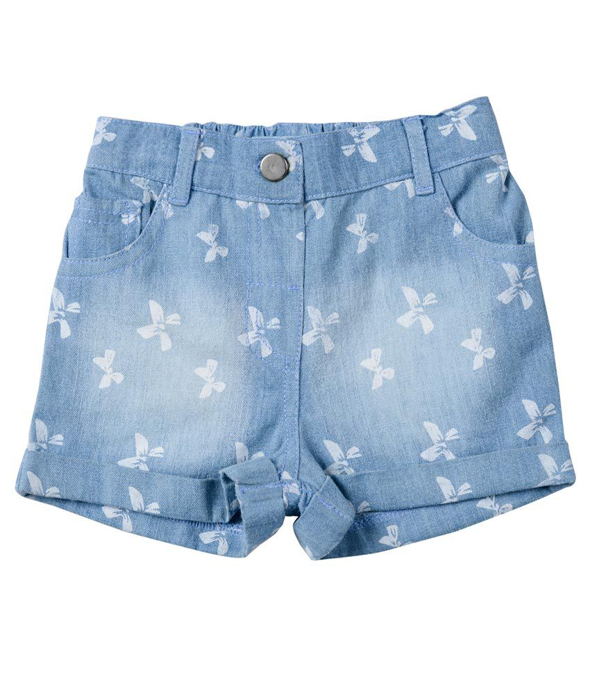 Nauti Nati Blue Cotton Shorts