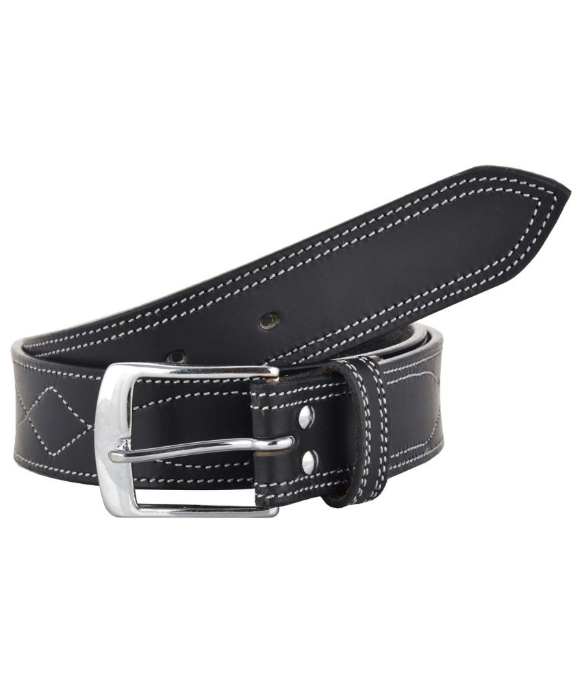 Sterling Germany Black Leather Casual Reversible Belt for Men