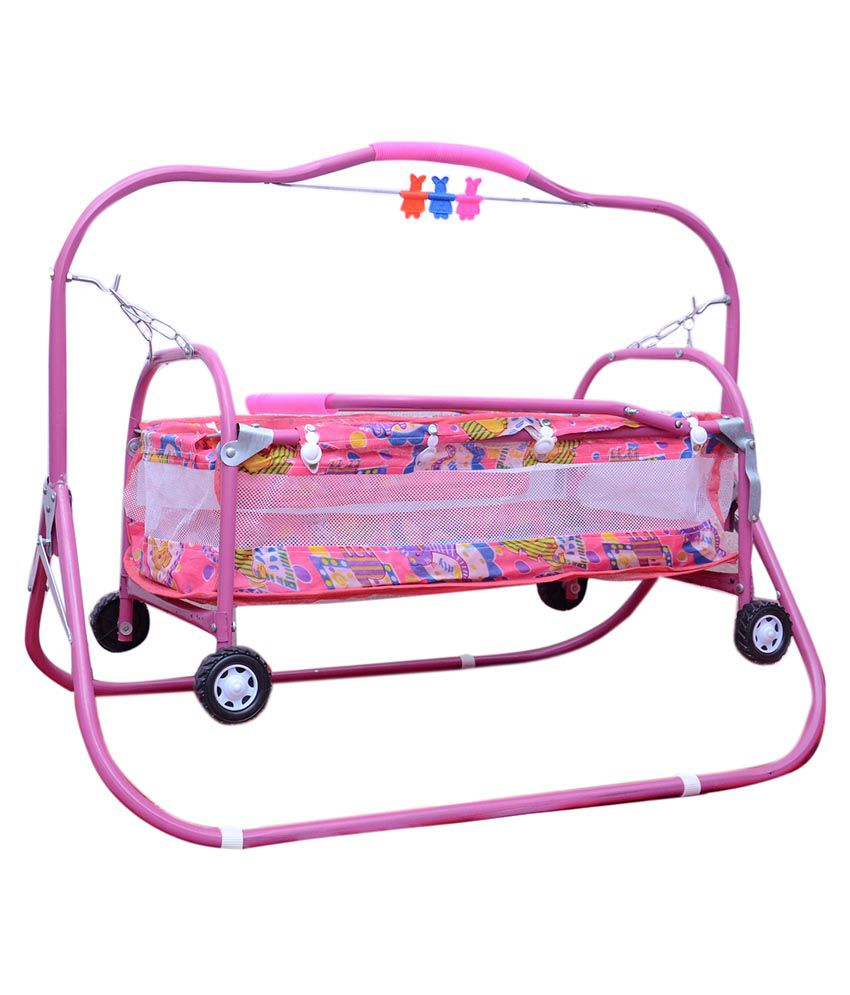 Abasr Pink 6 In 1 Steel Bassinet