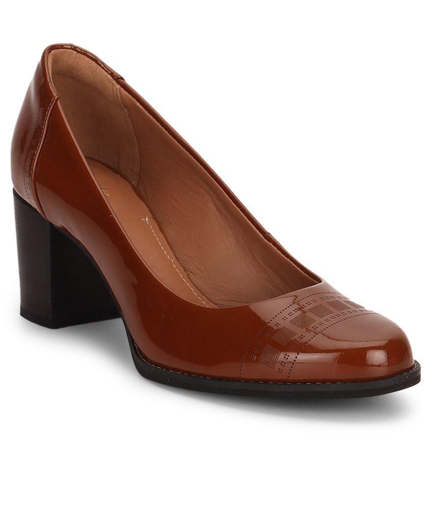 Clarks Tan Block Heels