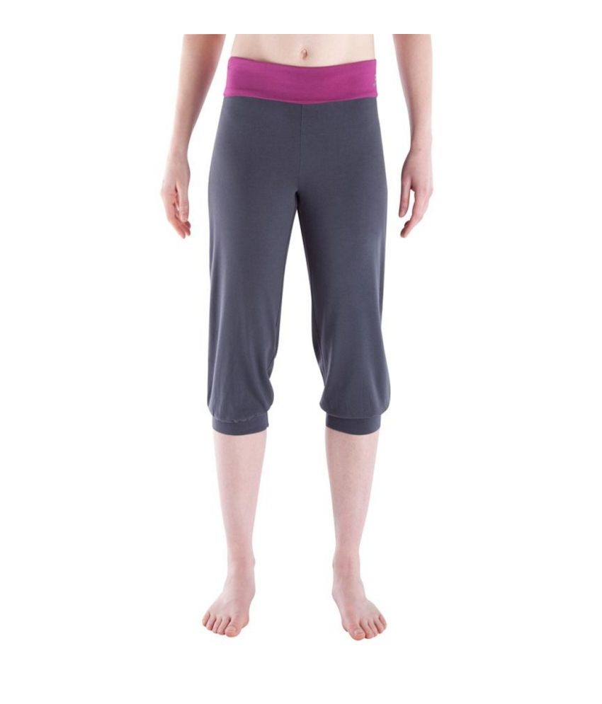 DOMYOS Wb1 Crs Bio Women's Yoga Cropped Leggings By Decathlon