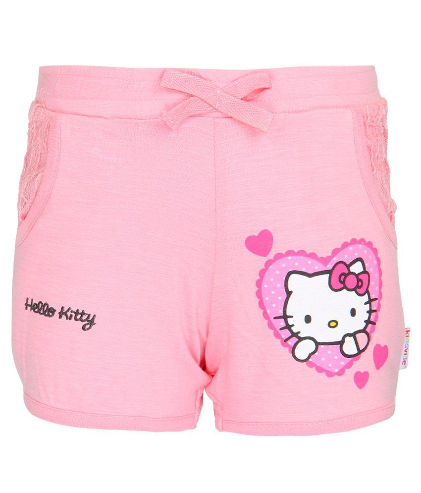 Hello Kitty Pink Printed Shorts