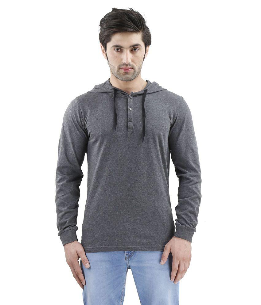 Inkovy Grey Hooded T Shirts