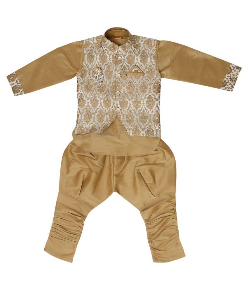Munna Munna Kids Apparel Golden Dhoti Kurta