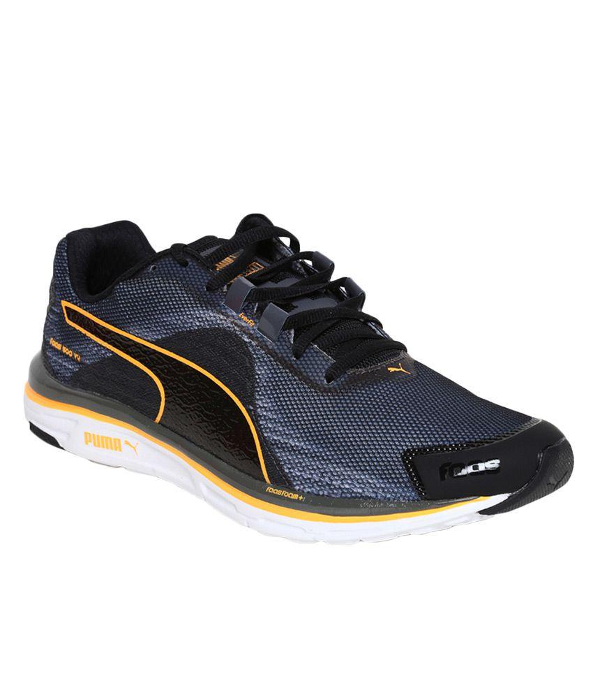 meilleure sélection 2080b b9c50 Puma Faas 500 V4 Weave Black Running Sports Shoes