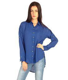 Bombay High Blue Rayon Shirts