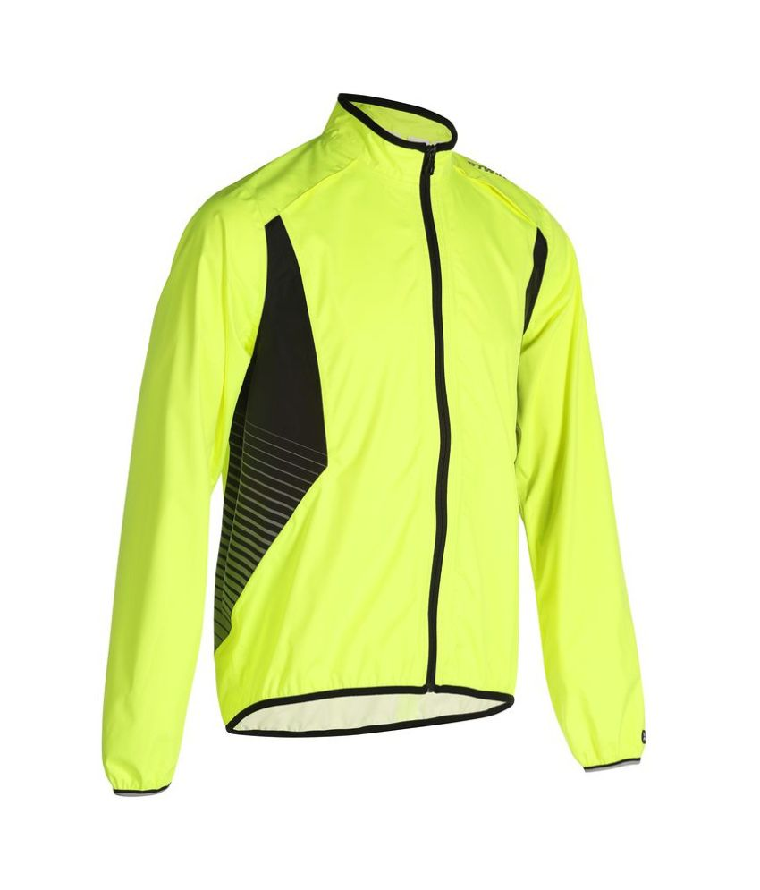 BTWIN Visible Cycling Waterproof Jacket 500 By Decathlon