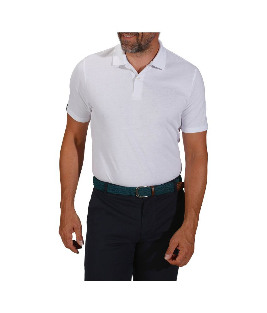 Inesis White Men's Polo T Shirt By Decathlon