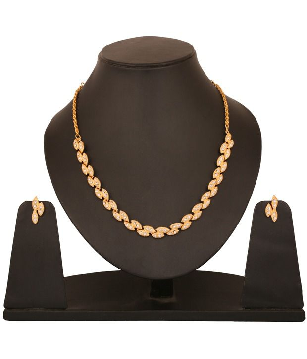 Touchstone AD Multiple Marquise Necklace Set