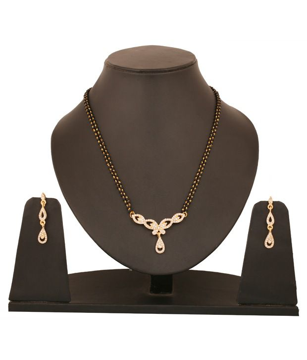Touchstone Teardrop AD Studded Mangalsutra Set