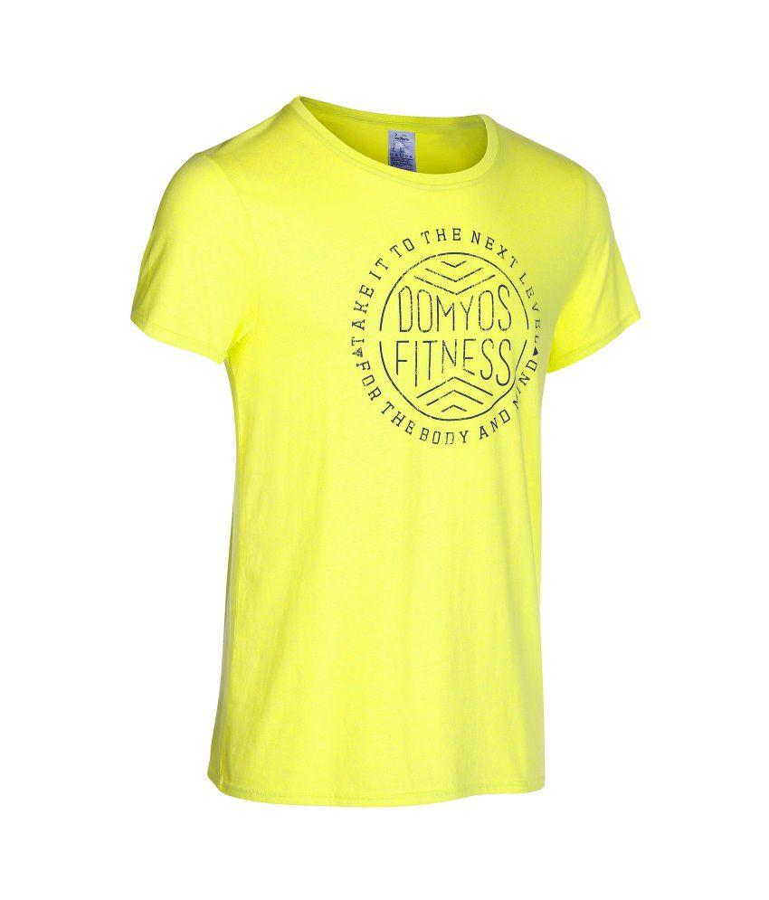 DOMYOS Printee Men's Fitness Essential T-Shirt By Decathlon