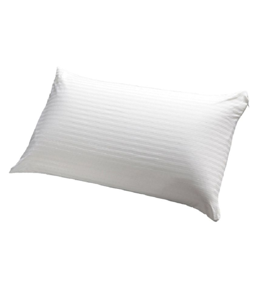 JDX White Polyester Pillow