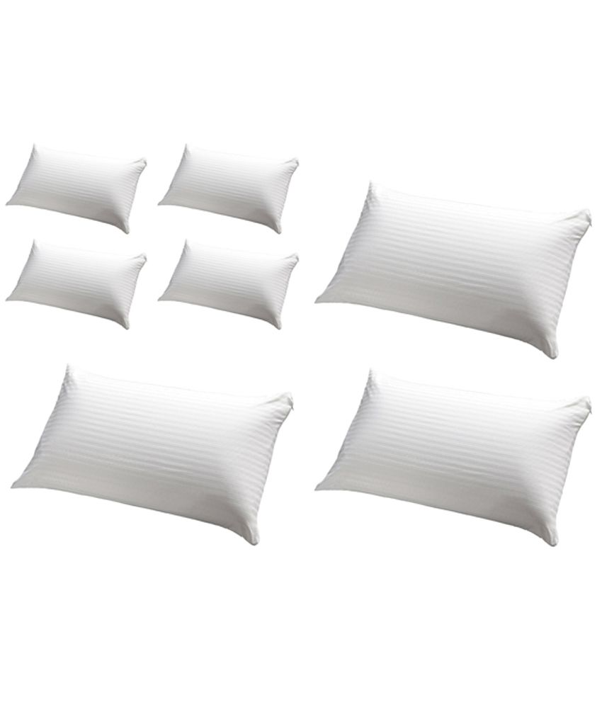 JDX White Polyester Pillows Pack Of 7