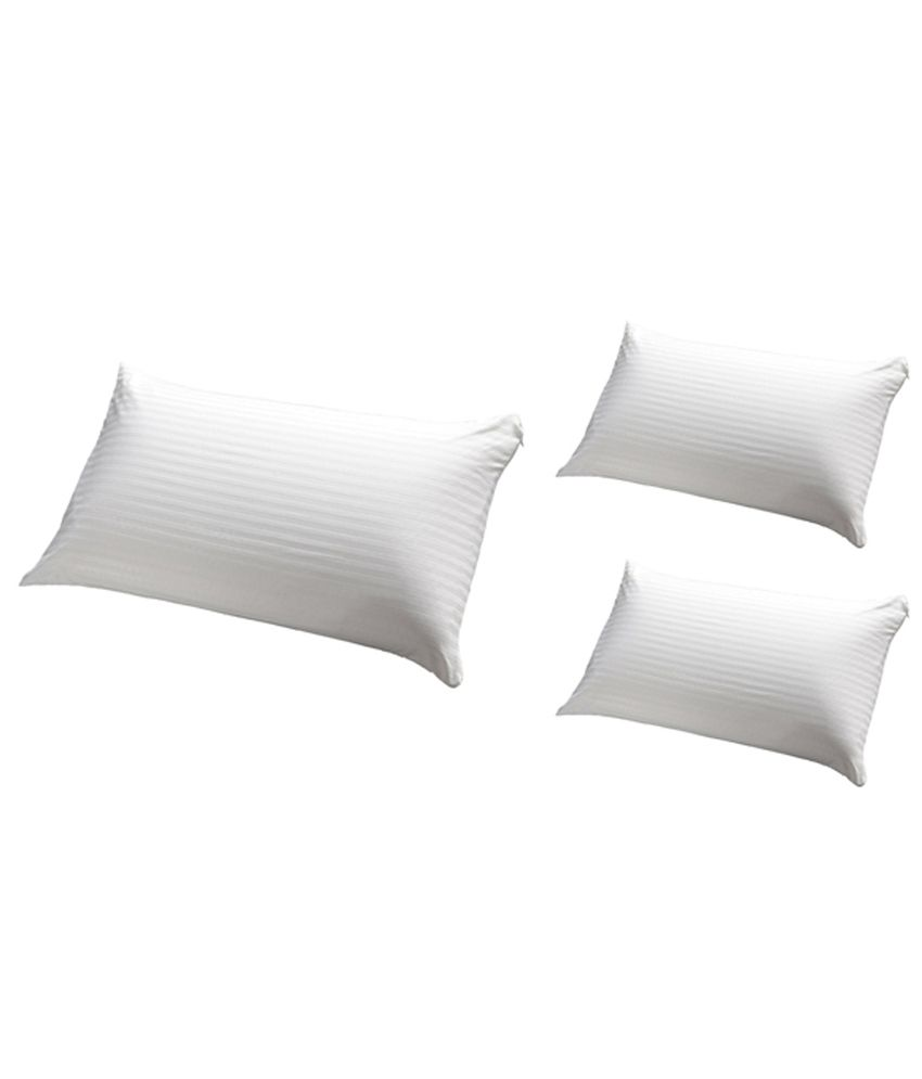 JDX White Polyester Pillows Pack Of 3