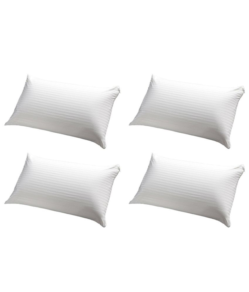JDX White Polyester Pillows Pack Of 4