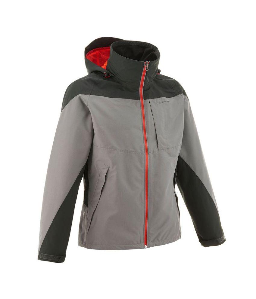 QUECHUA Forclaz 100 Men's Hiking Rain Jacket By Decathlon