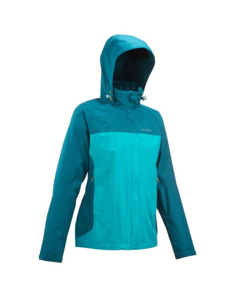 QUECHUA Forclaz 100 Women's Hiking Rain Jacket By Decathlon