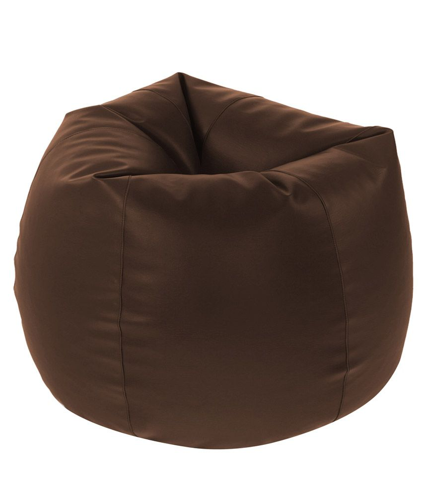 Beanbagwala Xxl Bean Bag Filled With Beans In Brown Buy
