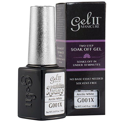 Gel II Soak-Off Gel Polish, Arctic White, 0.47 Ounce