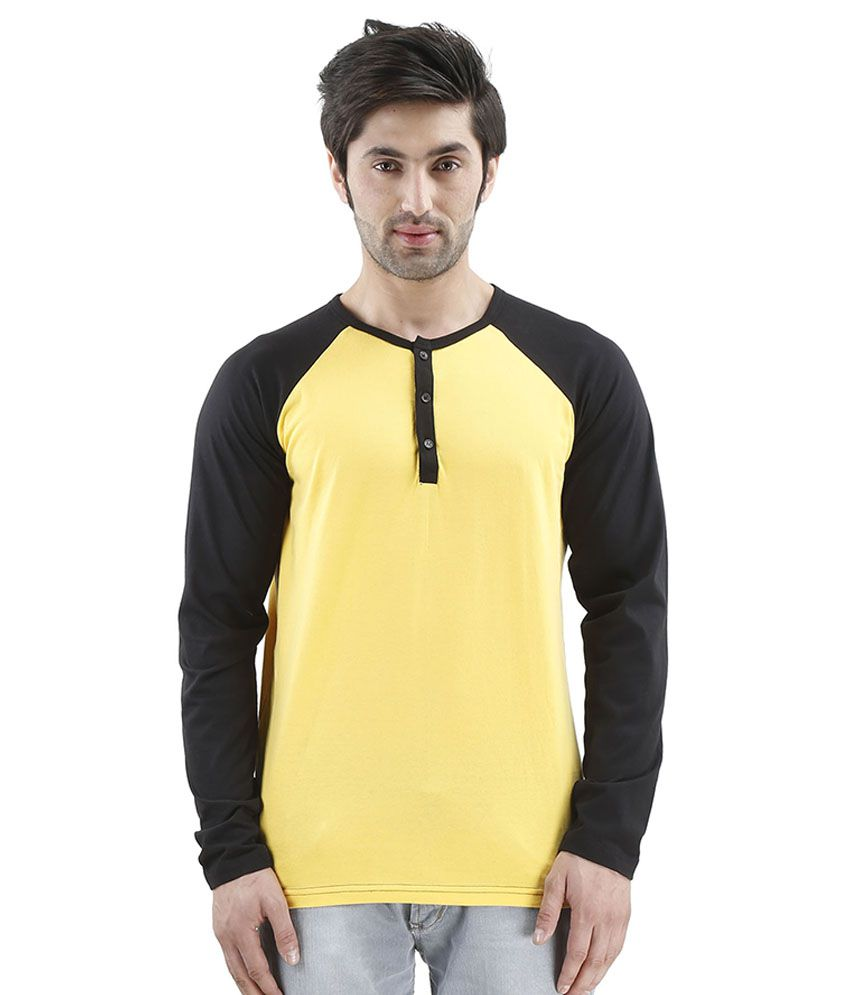 Inkovy Yellow Henley T Shirts