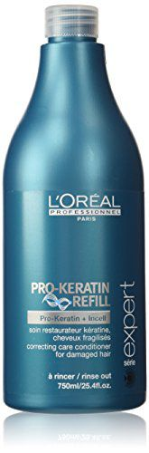 L'Oreal Paris Imported Loreal Serie Expert Pro Keratin Refill Conditioner for Damaged & Weakened Hair 25.4 oz
