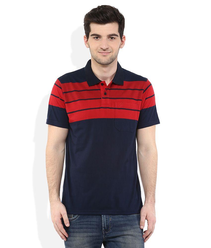 Proline Navy Regular Fit Polo T-Shirt