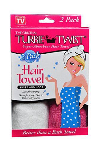 Turbie Twist Imported Turbie Twist Microfiber Super Absorbent Hair Towel Pink White
