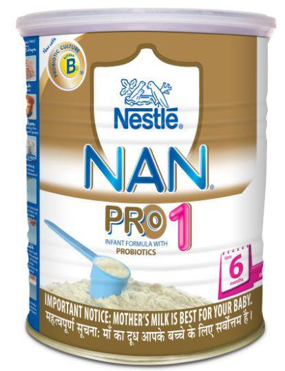 nestle nan pro 1 infant formula tin upto 6 months 400g
