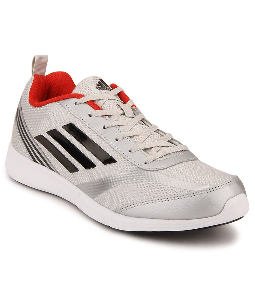Adidas Adiray Silver Running Sports Shoes ...
