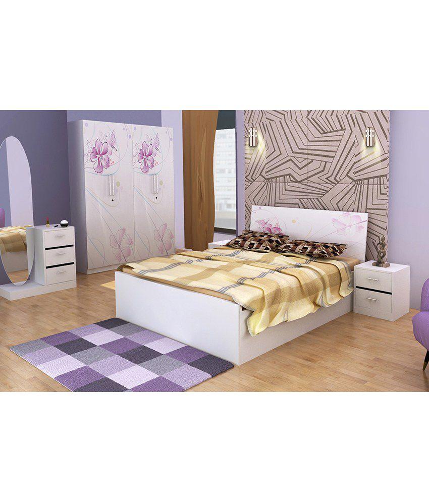 Parin Elegant Bedroom Set in White - Buy Parin Elegant ...