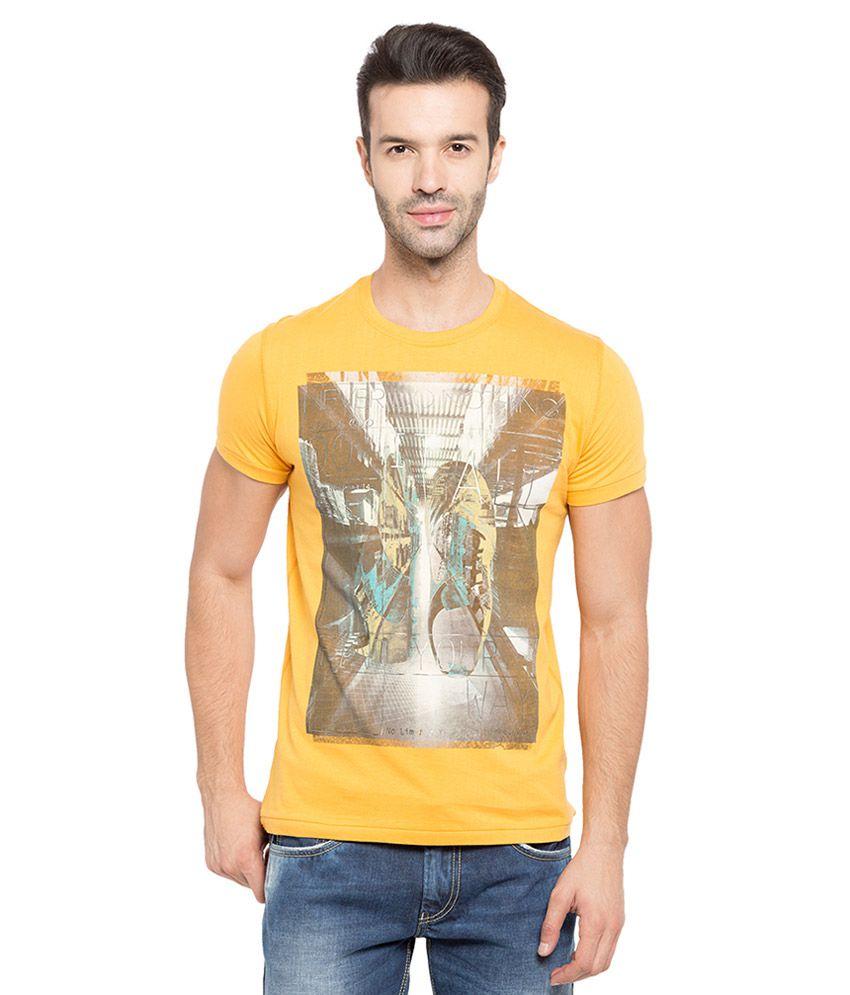 Status Quo Orange Half Sleeves T-Shirt