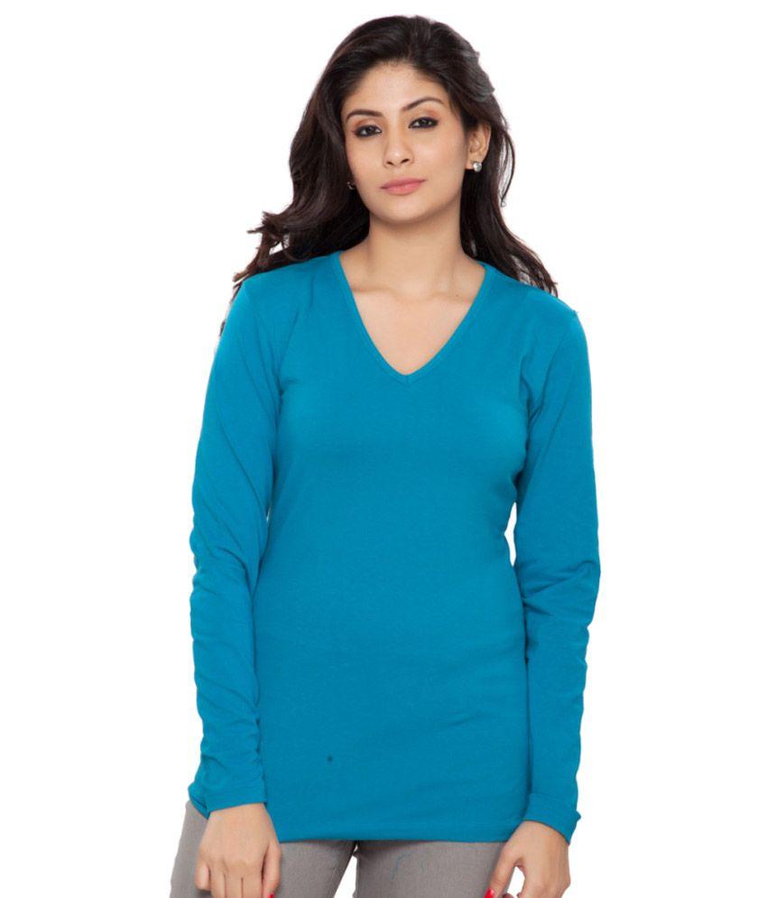 Clifton Blue Full Sleeves Tees for Women