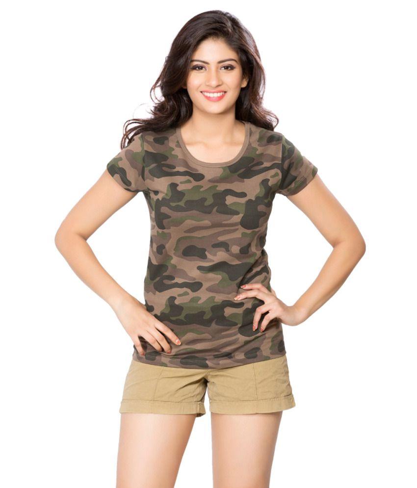 Clifton Green Army T-shirt for Women