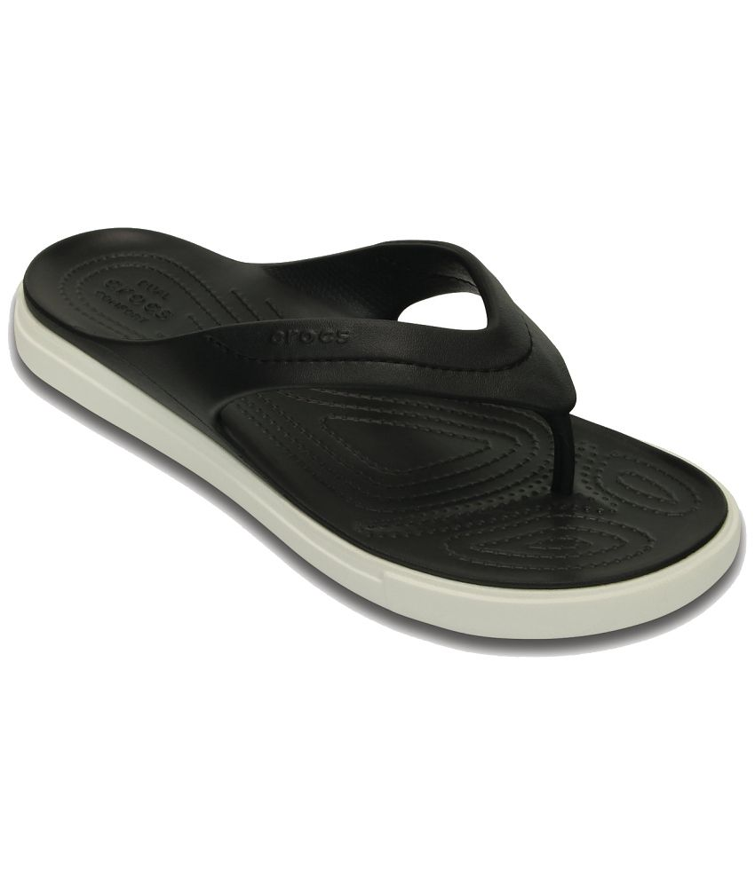 Crocs Relaxed Fit Black Slippers & Flip Flops