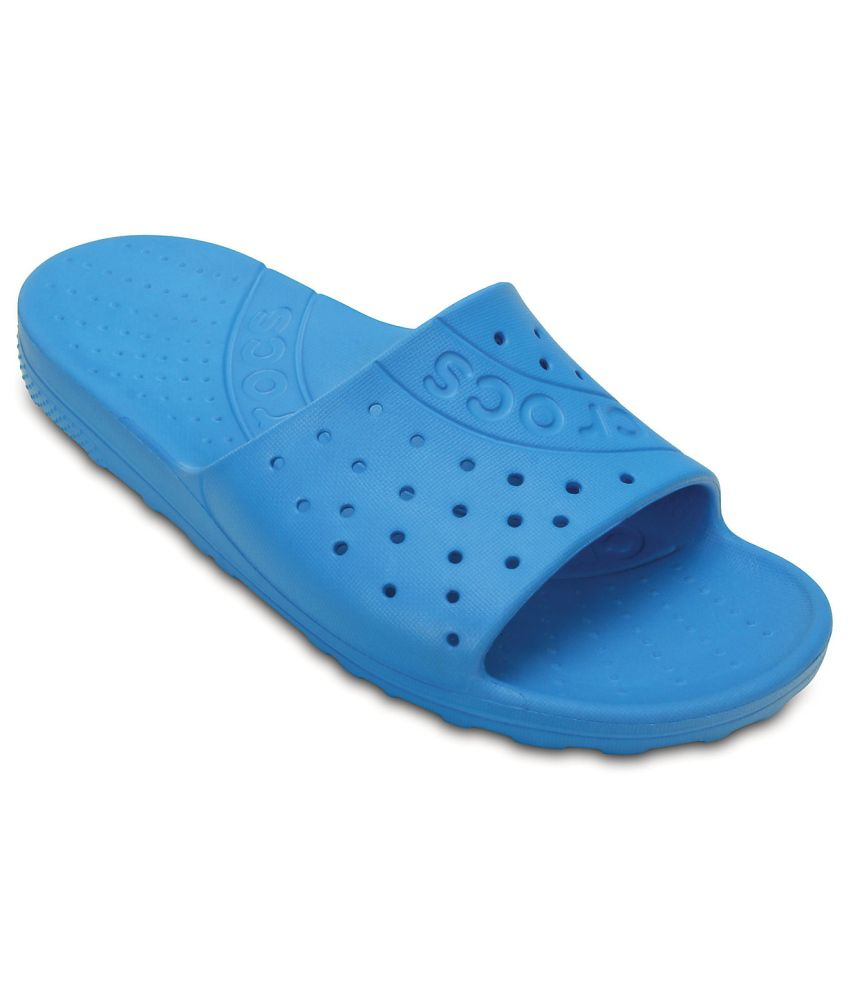 Crocs Relaxed Fit Blue Slippers & Flip Flops