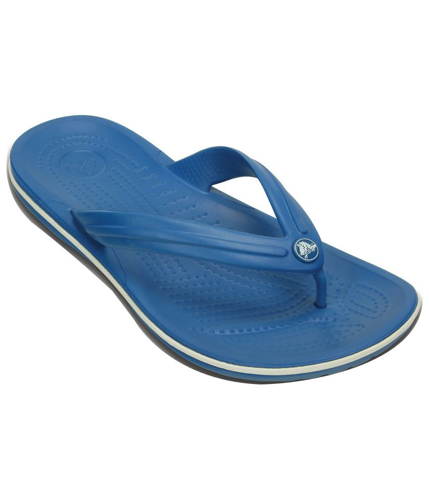 Crocs Blue Slippers & Flip Flops Relaxed Fit