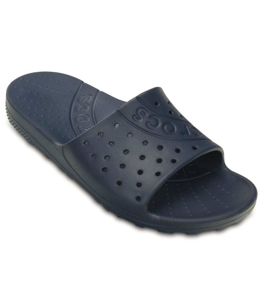 Crocs Relaxed Fit Navy Slippers & Flip Flops