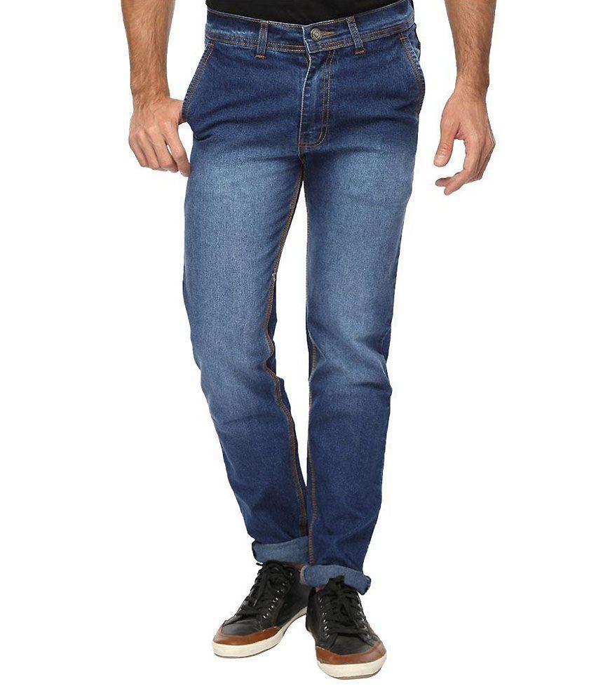 Wajbee Blue Slim Jeans