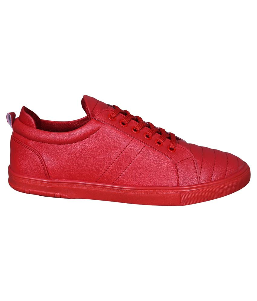 0b3a9fbe876 M   M Red Sneaker Shoes - Buy M   M Red Sneaker Shoes Online at Best ...