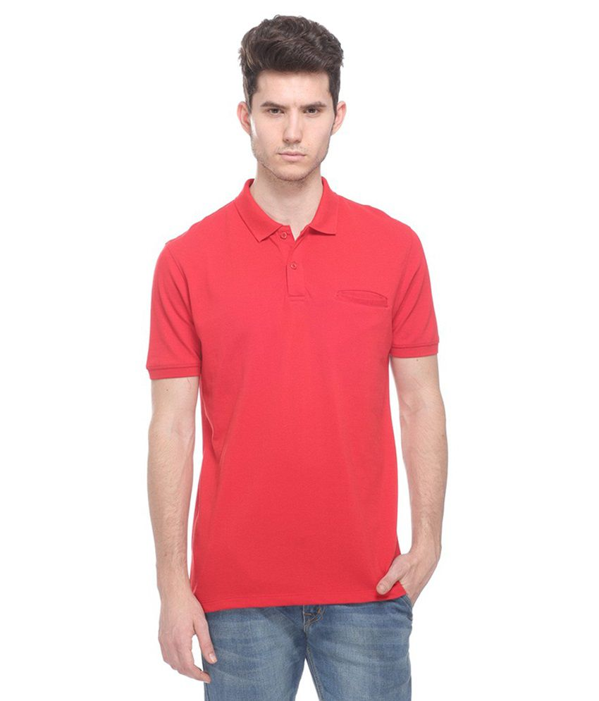 Octave Red Henley T Shirts