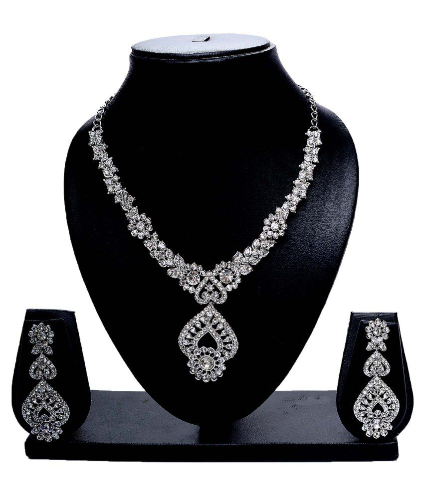 Siddh Silver Alloy Necklace Set