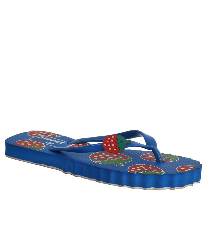Ve Sweet Blue Slippers & Flip Flops