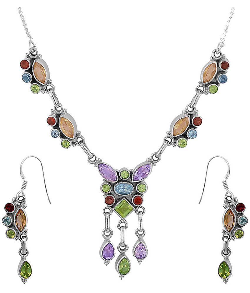 Zivah 92.5 Silver Necklace Set