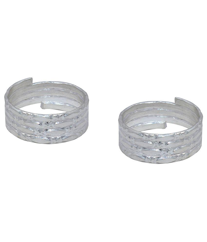 Bhavika Silver German Silver Toe Rings