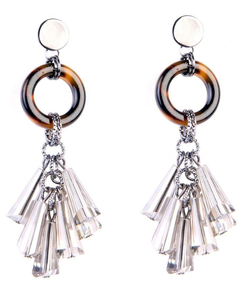 Chkokko Silver Alloy Hanging Earrings