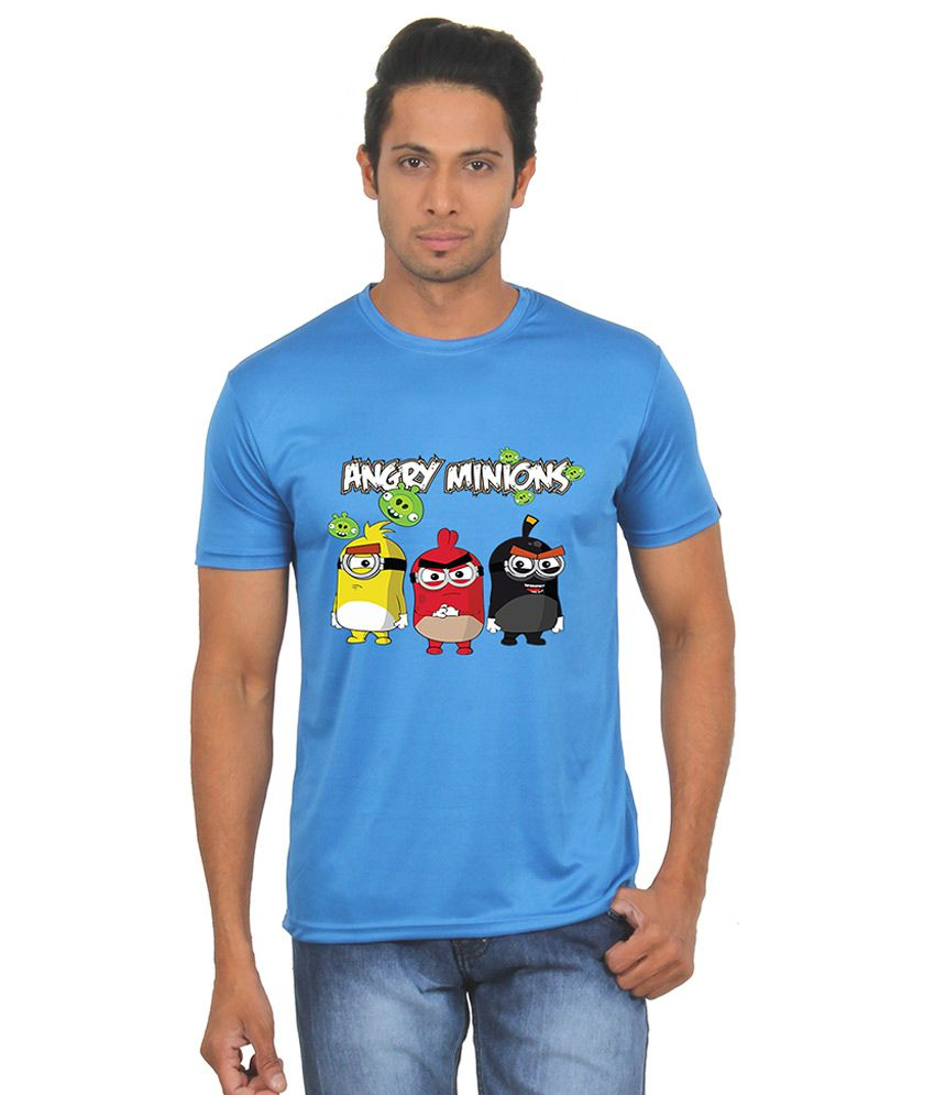 FanIdeaz Blue Round T Shirts