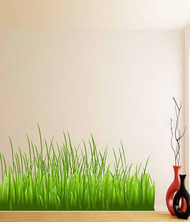 impression wall textured pvc grass wall sticker - buy impression
