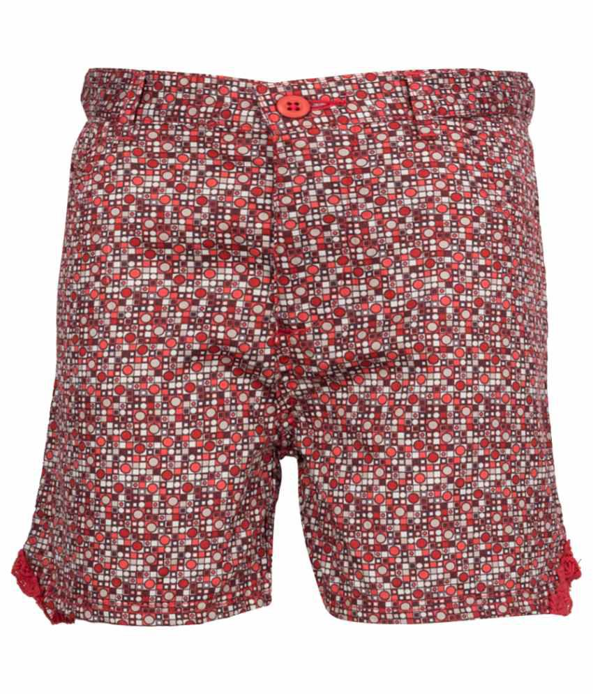 Miss Alibi Multicolour Cotton Shorts for Girls