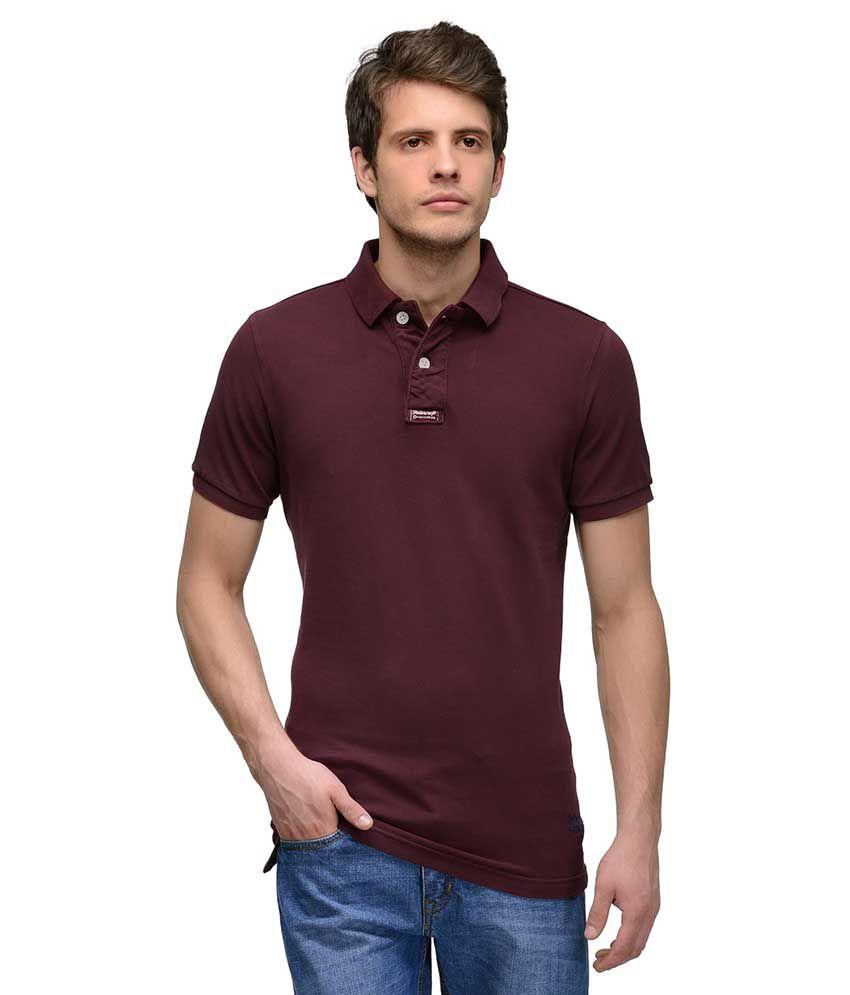 Tailor Craft Purple Round T Shirts