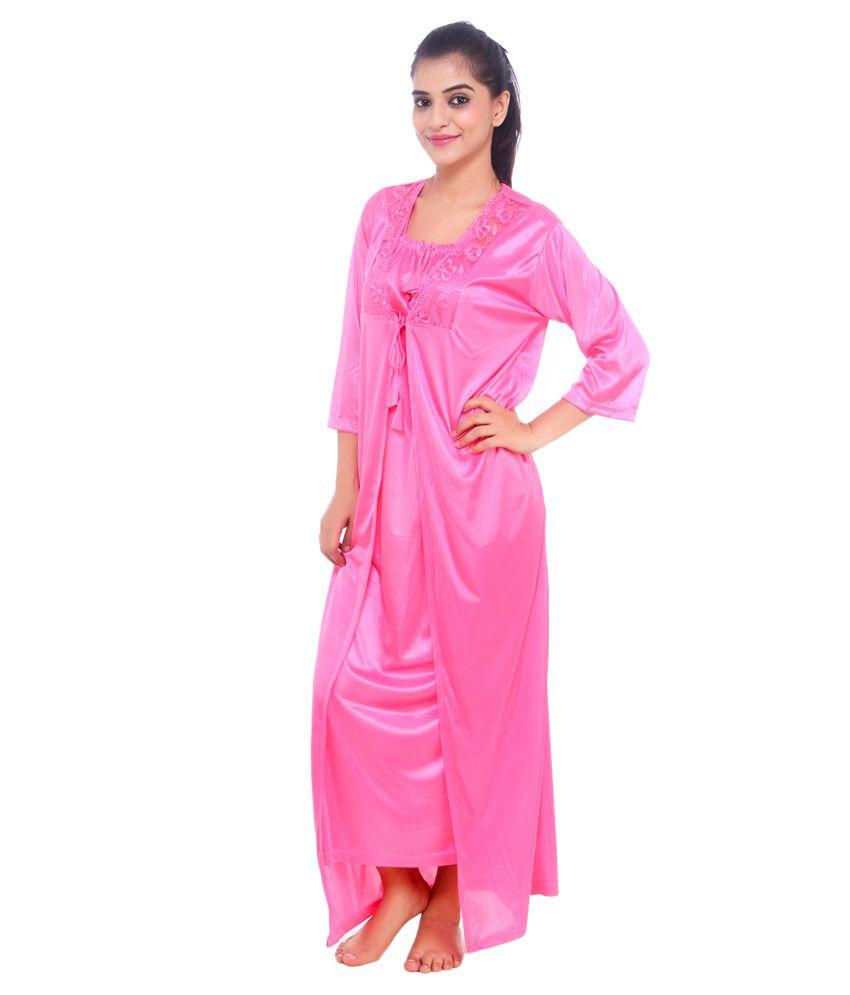 Goal Achiver Pink Satin Nighty